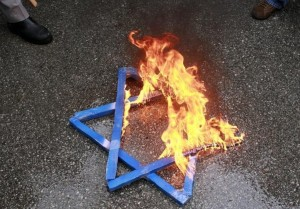 Burning Star of David